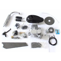 Kit Motor Cromado De 2 Tiempos 80cc Para Bicicleta