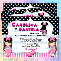 Invitaciones Minnie Mouse- Mimi-disney-invitaciones Niña