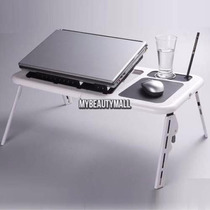 Mesa Portátil Laptop, 2 Ventiladores, Portavasos Alfombrilla