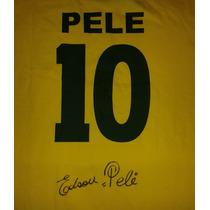 Jersey Autografiado Firmado Pele Brasil Mexico 70 Rarisimo