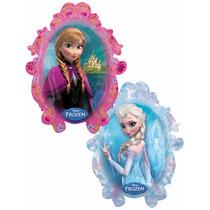 2 Globos Metálicos Jumbo 28 Pulgadas Frozen Ana Y Elsa