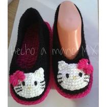 Zapatos Y Pantuflas Tejidas A Mano En Crochet Talla 17-21