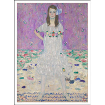 Lienzo Tela, Niña De Blanco, Gustav Klimt, 54x74 Cm