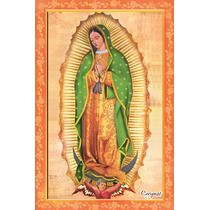 Virgen De Guadalupe Azulejo Tercer Fuego 31x45 Cm