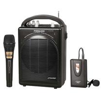 Sistema Audio Portatil Amp Mic Lavalier Inalambrico Karaoke