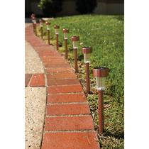 Lamparas Para Jardin Solares De Led 10 Piezas