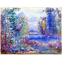 Lienzo Tela Auguste Renoir Paisaje De Rio 1890 60 X 50 Cm