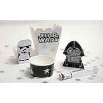 Star Wars Dulcero Infantil Sables Servilleteros Cajas Cartón