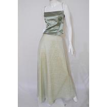 Elegante Vestido De Noche Eva Brazzi De 3 Piezas