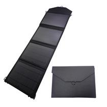 Cargador Solar Tipo Panel 20w Negro Usb Para Celulares