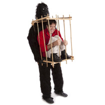 Traje Disfraz De Gorila Hombre En Jaula Fiesta O Reuniones