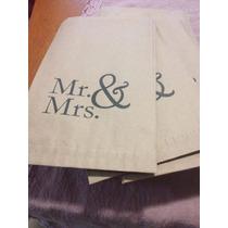 Bolsa Kraft Tipo Sobre Mr. & Mrs. 20 Pz.