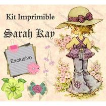 Kit Imprimible Sarah Kay Clasico Invitaciones Marcos Fondos