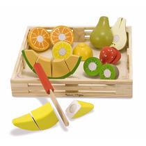 Juego Frutas Madera Didactico Niños Melissa & Doug Cortar