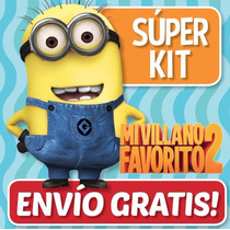 Kit Imprimible Mi Villano Favorito 2 Minions Invitaciones