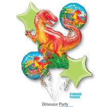 Oferta!! 5 Globos Dinosaurios Bouque Varios!! Envío Barato!!