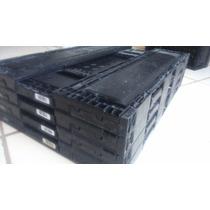Caja De Plástico Abatible Color Negro