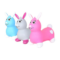 Montable Conejo Juguete Plastico Animalitos Infable