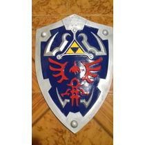 Escudo De Link Hylian De Leyenda De Zelda De Metal Y Polires