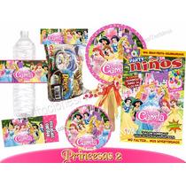 Princesas Disney Kit Imprimible Personalizado Invitaciones