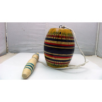 Balero Fabricado En Madera Decorado A Mano. Artesania Mexica
