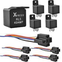 Xpress 5pcsrl5 + 5pcs Socket Auto Relay 40 Amp Y 5 De Relé D