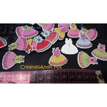 Botones Madera Vestido Princesa Costura Tejido Scrapbook 6pz