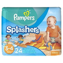 Pampers Splashers Desechable Swim Pants Tamaño 4.3 24 Count