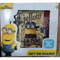 Fiesta Minions Set De Diario Con Estampas Y Sellos