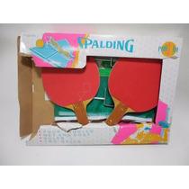 2 Raquetas Red Y Ganchos Spalding Pin Pon Tennis E766