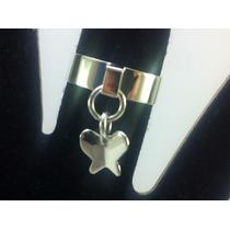 Anillo Plata Mariposa Colgante #8 Puede Hacerse Mas Grande