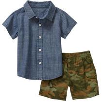 Conjunto Camisa Shorts Camuflaje Militar Envio Gratis