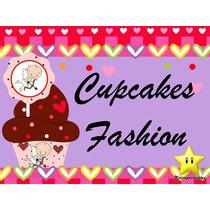 Mega Kit Imprimible Cupcake Fashion Capecillos Wrappers
