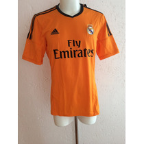 Jersey Real Madrid Tercer Uniforme 2014 Color Naranja Adidas