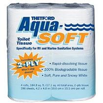 Thetford Papel Higiénico 03300 Aqua-soft 2-ply 4 Rolls