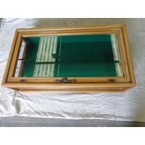 Vitrina De Exhibición En Madera De Roble, 50 X 90 X 22 Cm