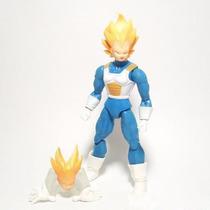 Figura De Accion Dragon Ball Z Vegeta Piezas Intercambiables
