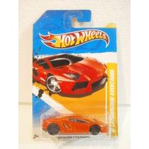 Hot Wheels 12 Lamborghini Aventador Naranja 12/247 2012 Tl