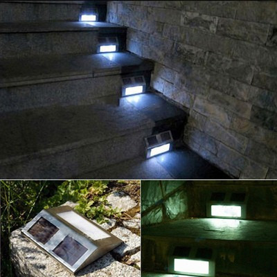 Lampara panel solar p exterior escalera barda jard n for Iluminacion solar jardin
