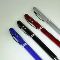 Boligrafo Pluma Touch Tactil 4 En 1 Apuntador Laser Lampara