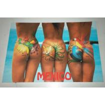 Postal Artistica De Playas Mexicanas