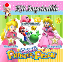 Kit Imprimible Princesa Peach Invitaciones Souvenirs Mx