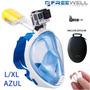 Gopro Mascara Snorkel Easybreath Buceo Sj4000 (l/xl Azul)