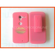 Clip Combo Protector Motorola Moto X Rosa Boca Barato !!!!!!