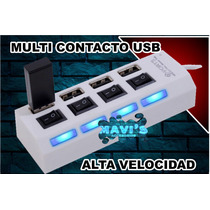 Multicontacto Usb Hig Speed Lap Top Pc Celular Tablet Ipad