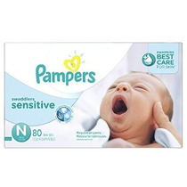 Pampers Swaddlers Sensitive Pañales Tamaño N Súper Paquete D