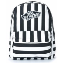 Mochila Vans Real M White Black Backpack Vn0nz0wht