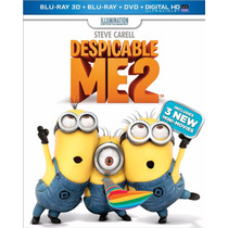 Mi Villano Favorito 2 3d Blu-ray 3d + Blu-ray 2d + Dvd