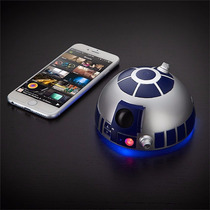 Star Wars Bocina Altavoz R2d2 Bluetooth Speakerphone Nuevo