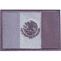 Mexico Acu Gris 2 Con Velcro Parches Bordados Banderas Pais